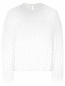 Philosophy Di Lorenzo Serafini embroidered floral blouse - White