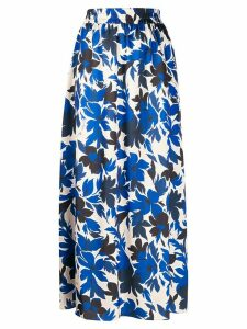 Boutique Moschino floral print skirt - Blue