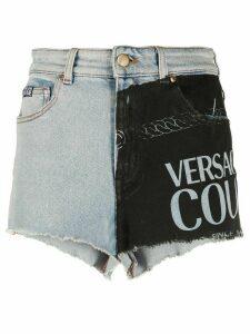Versace Jeans Couture panelled denim shorts - Blue