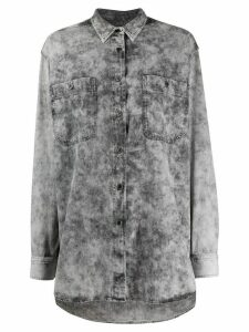Isabel Marant distressed denim shirt - Grey