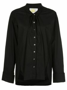 Marques'Almeida long sleeve off shoulder shirt - Black