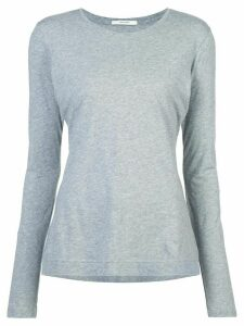 Adam Lippes round neck long-sleeved top - Grey