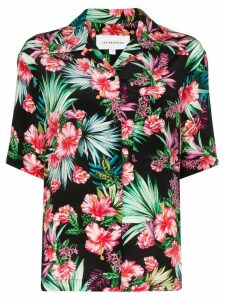 Les Rêveries flower print shirt - Black
