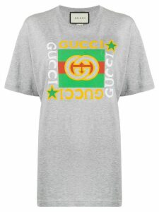 Gucci oversized GG logo T-shirt - Grey