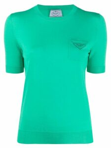 Prada knitted crew neck T-shirt - Green