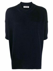 Jil Sander cropped sleeve jumper - Blue