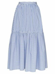 Staud Orchid striped maxi skirt - Blue