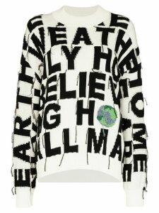 Stella McCartney Conscious intarsia-knit jumper - Black