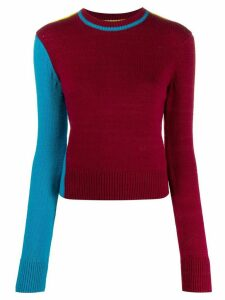 Victoria Beckham colour block knitted jumper - PINK