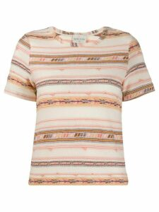 Forte Forte striped crew-neck T-shirt - NEUTRALS