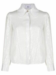 Atu Body Couture Sugar Lump sequin shirt - White