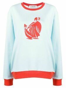 LANVIN Mother and Child print sweatshirt - Blue