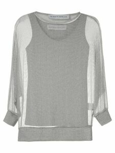 Gloria Coelho metallic knit blouse - SILVER