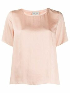 Forte Forte satin relaxed T-shirt - NEUTRALS