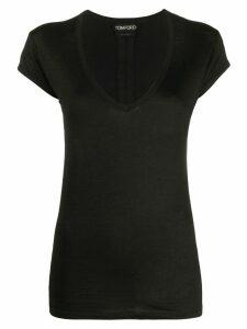 Tom Ford v-neck T-shirt - Black