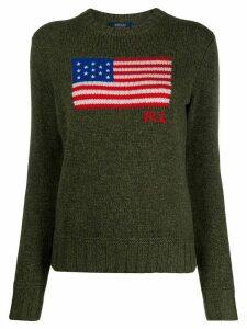 Polo Ralph Lauren flag logo crew-neck jumper - Green