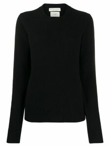 Bottega Veneta uneven hem knitted jumper - Black