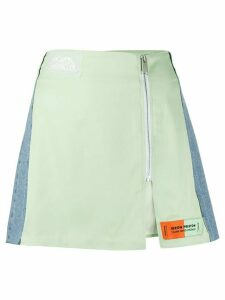 Heron Preston panelled zip skirt - Green