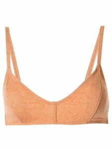 Peony piped bralette top - ORANGE