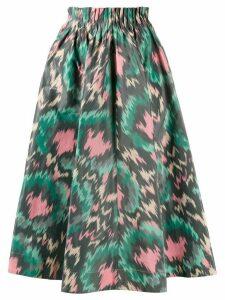 Marni abstract print midi skirt - Black