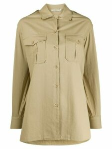 Mes Demoiselles Karagol oversized shirt - NEUTRALS