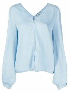 Forte Forte puff sleeve denim blouse - Blue