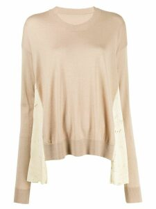 Uma Wang panelled jumper - Brown