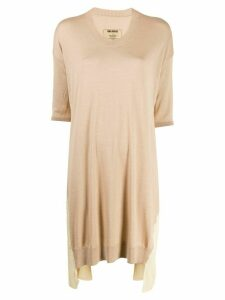 Uma Wang oversized draped jumper - Brown