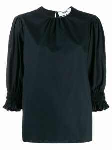 MSGM elasticated cuff blouse - Black