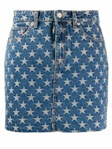 Tommy Jeans star print jeans skirt - Blue