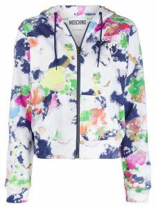 Moschino Fantasy-print zipped hoodie - White