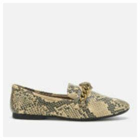 Kurt Geiger London Women's Chelsea Snake Print Loafers - Black/Grey - UK 8