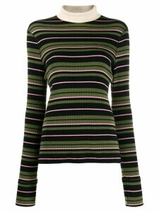 Marni mock neck ribbed jumper - Black