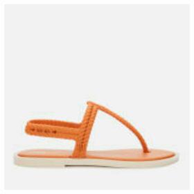 Melissa Women's Salinas Flash Toe Post Sandals - Cinnamon - UK 8