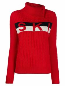 Perfect Moment cable-knit jumper - Red