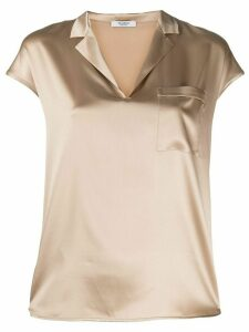 Peserico v-neck blouse - NEUTRALS
