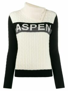 Perfect Moment Super Stripes turtleneck jumper - White