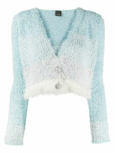 Pinko v-neck button-up cardigan - Blue