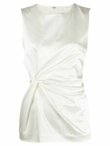 P.A.R.O.S.H. ruched sleeveless top - White
