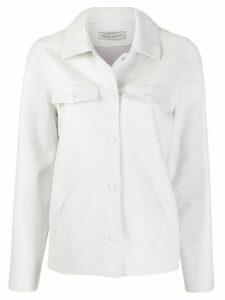 Inès & Maréchal leather shirt jacket - White