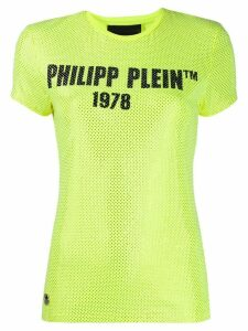 Philipp Plein TM studded slim-fit T-shirt - Yellow