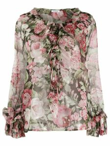 P.A.R.O.S.H. floral print ruffle blouse - PINK