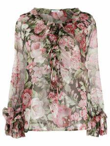 P.A.R.O.S.H. floral print ruffle blouse - PINK
