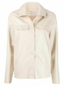 Inès & Maréchal leather shirt jacket - NEUTRALS