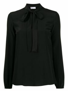 Red Valentino silk pussy bow blouse - Black