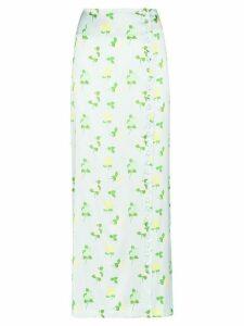 Bernadette Kelly high-waisted floral-print skirt - Blue