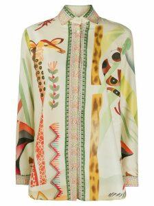 Etro long sleeve printed Aloe shirt - NEUTRALS