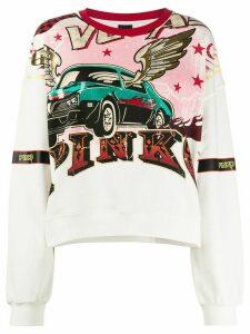 Pinko long sleeve printed sweater - White