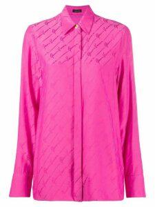 Versace GV signature print shirt - PINK