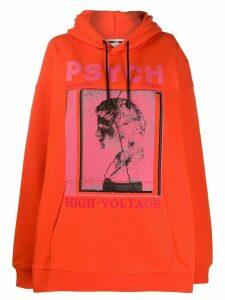McQ Alexander McQueen oversized photo print hoodie - ORANGE